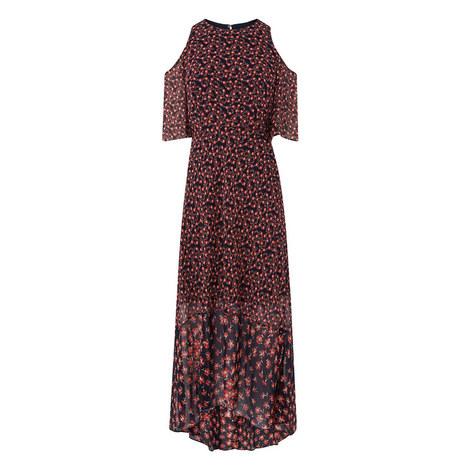 Shauna Printed Silk Dress, ${color}