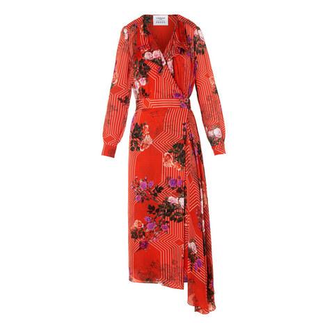 Vali Drape Wrap Dress, ${color}