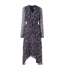 Licia Printed Silk Dress