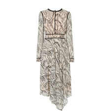 Linnea Printed Silk Dress
