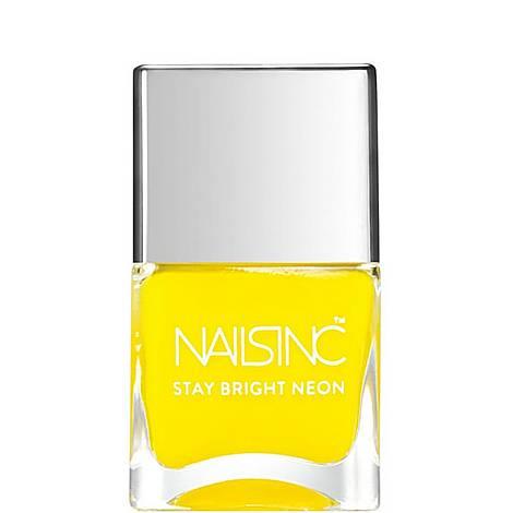 Nails inc Golden Lane Stay Bright Neon nail polish, ${color}