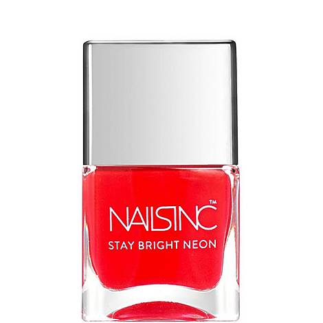 Nails inc Great Eastern Street Stay Bright Neon nail polish, ${color}