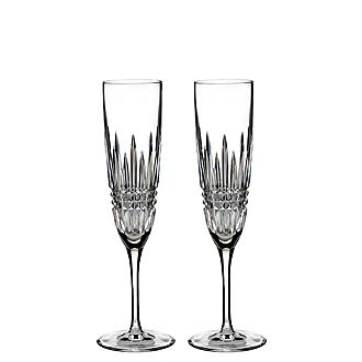 Lismore Diamond Champagne Flute Set of Two