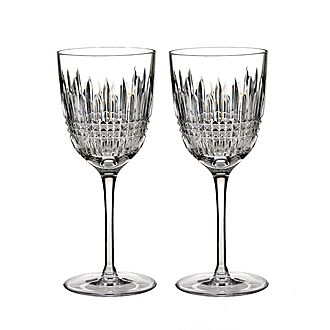 Lismore Diamond White Wine Glass Set of Two