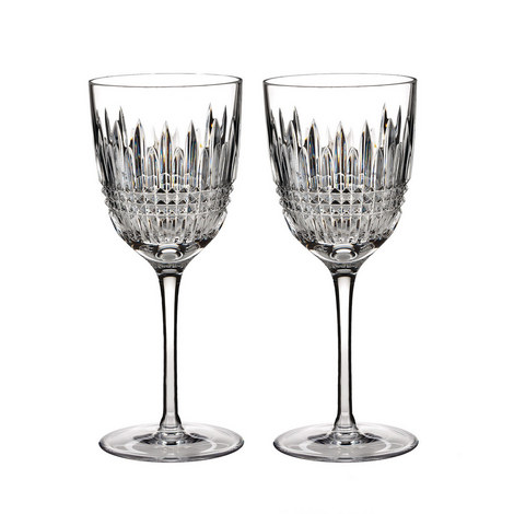Lismore Diamond White Wine Glass Set of Two, ${color}
