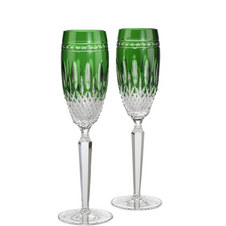 Two Clarendon Toasting Flutes