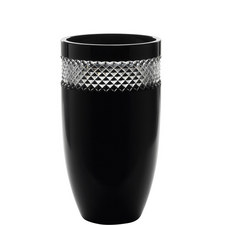 John Rocha Black Glass Vase