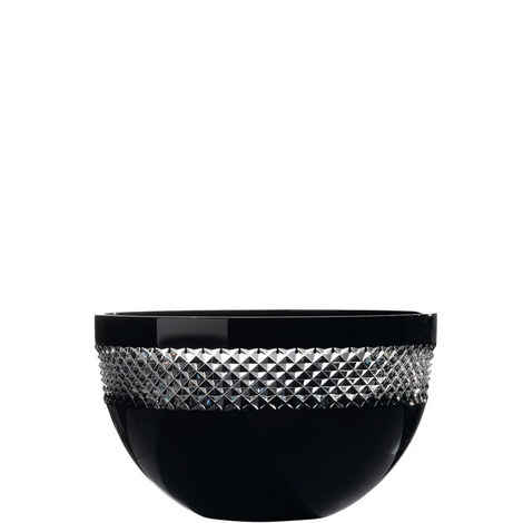 John Rocha Black Cut Bowl 25cm, ${color}