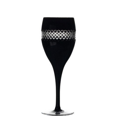 John Rocha Black Red Wine Glass Set of Two, ${color}