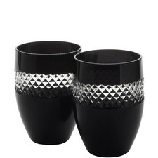 John Rocha Black Tumbler Set of Two
