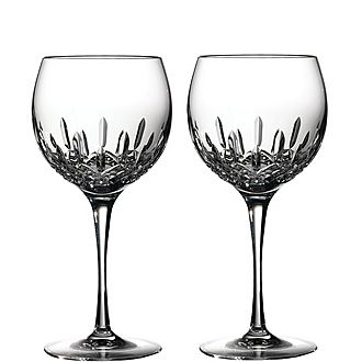 Two Lismore Essence Balloon Glasses