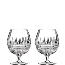 Lismore Diamond Brandy Glass Set of Two