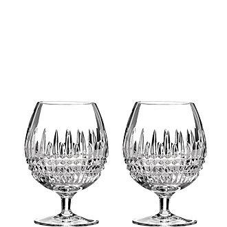 Lismore Diamond Brandy Glass Set of Two