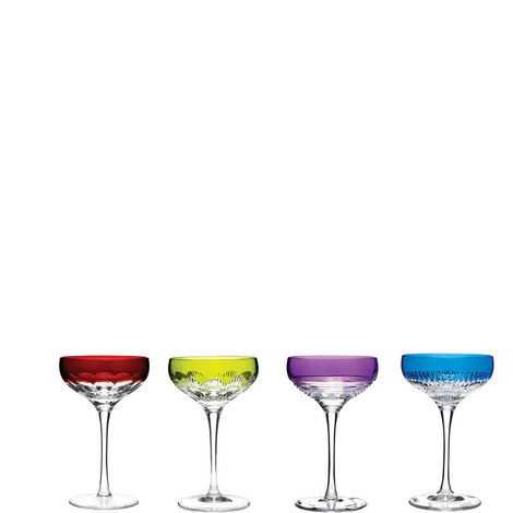 Mixology Champagne Coupe Colours Set of Four, ${color}