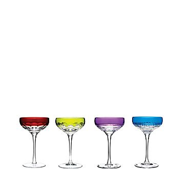 Mixology Champagne Coupe Colours Set of Four