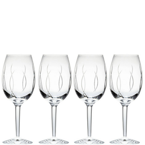John Rocha Weft Goblet Set of Four, ${color}