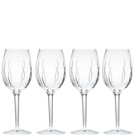 John Rocha Weft Wine Set of Four, ${color}