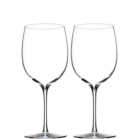 Two Elegance Bordeaux Wine Glasses, ${color}