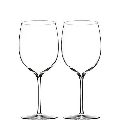 Two Elegance Bordeaux Wine Glasses, ${color}