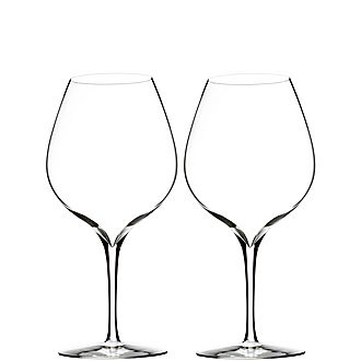Elegance Merlot Glass Set of Two