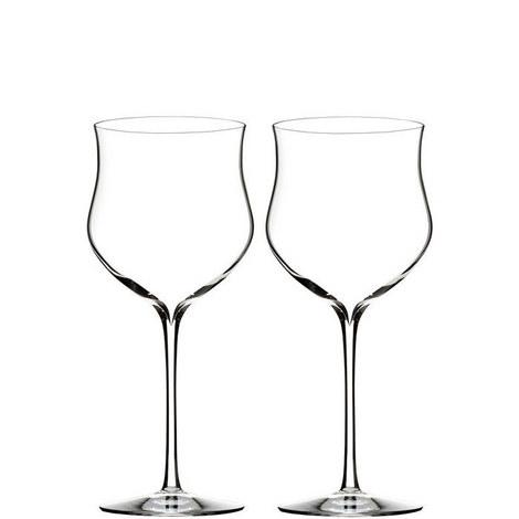 Two Elegance Rosé Wine Glasses, ${color}