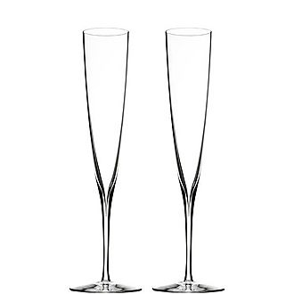 Two Elegance Champagne Trumpets