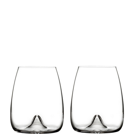Elegance Stemless Wine Glass Set of Two, ${color}