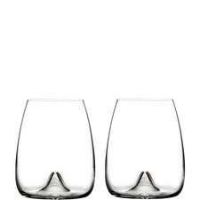Elegance Stemless Wine Glass Set of Two