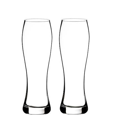 Two Elegance Pilsner Glasses, ${color}