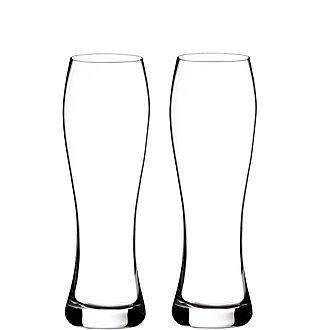Two Elegance Pilsner Glasses