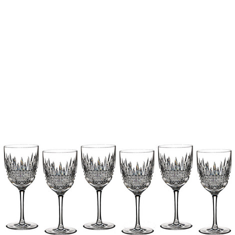 Lismore White Wine Glasses Set of 6, ${color}