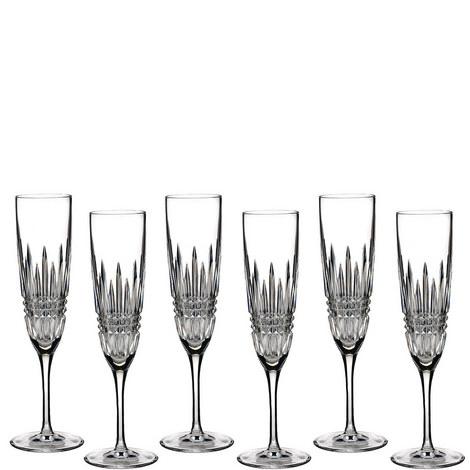 Lismore Diamond Flutes Set of 6, ${color}