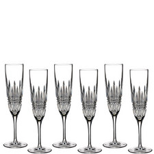 Lismore Diamond Flutes Set of 6