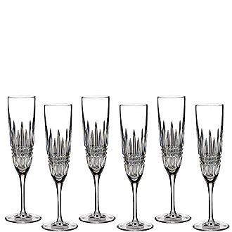 Lismore Diamond Flutes Set of 6