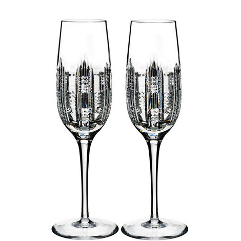 Essentially Dungarvan Flute Glasses, ${color}