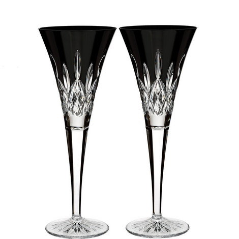 Lismore Black Champagne Flutes, ${color}