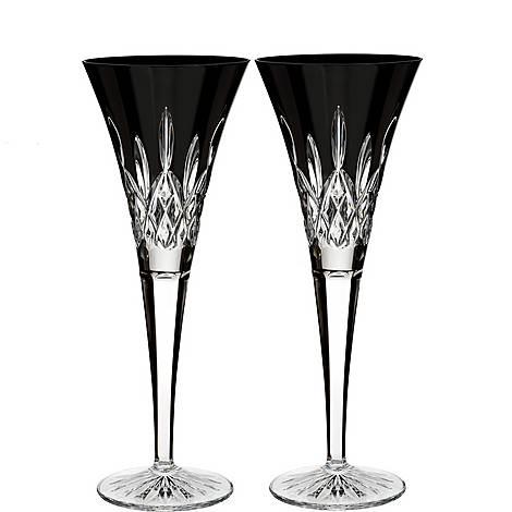 Lismore Black Champagne Flutes, ${color}