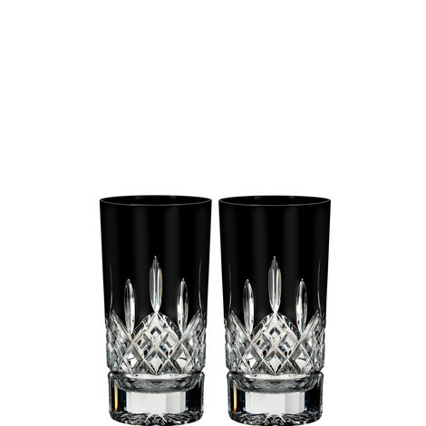 Lismore Black Hi Ball Glasses, ${color}