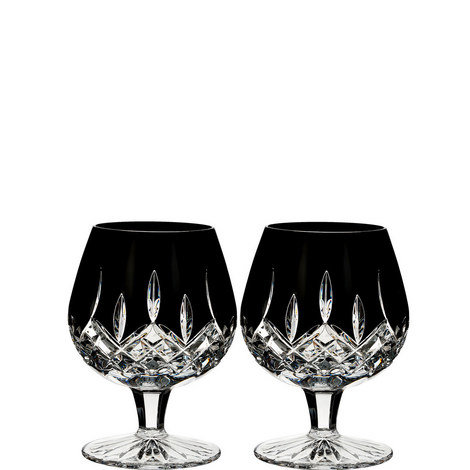 Lismore Black Brandy Glasses, ${color}