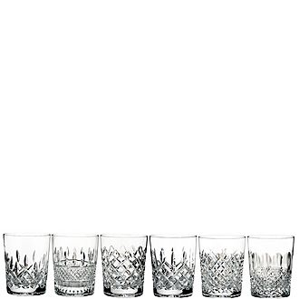 Set of 6 Lismore Connoisseur Heritage Old Fashioned Tumblers