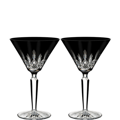 Lismore Black Martini Glasses, ${color}