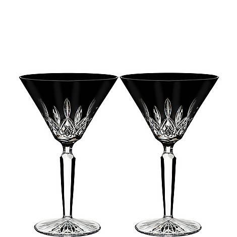 Lismore Black Martini Glasses, ${color}