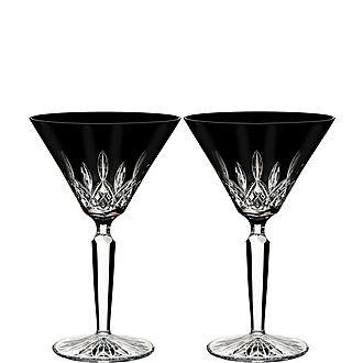 Lismore Black Martini Glasses