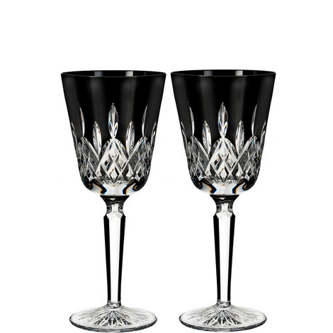 Lismore Black Tall Goblets, ${color}