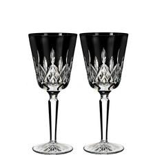 Lismore Black Tall Goblets