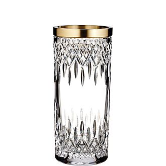 Lismore Reflection Gold Band Vase
