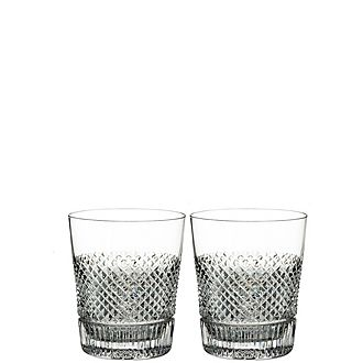 Diamond Line Double Old Fashioned tumblers