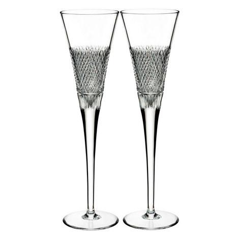 Diamond Line Champagne Flutes, ${color}