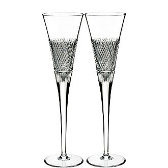 Diamond Line Champagne Flutes