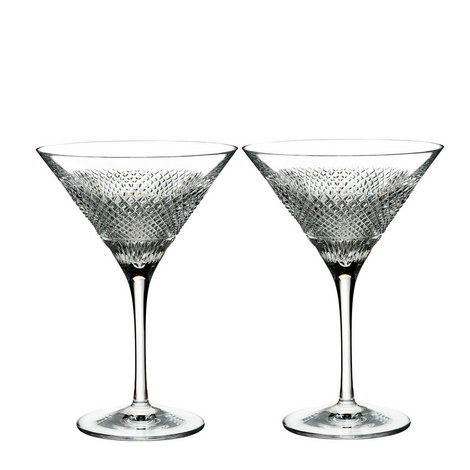 Diamond Line Martini Glasses, ${color}